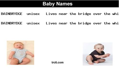 bainbrydge baby names