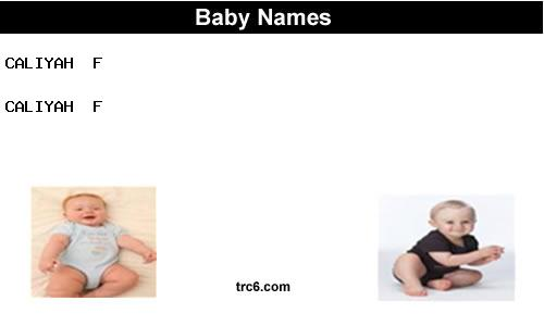 caliyah baby names