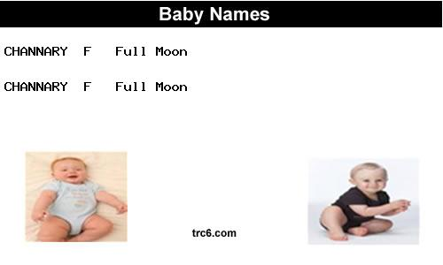 channary baby names