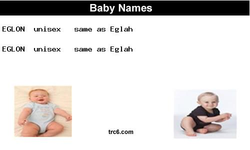 eglon baby names