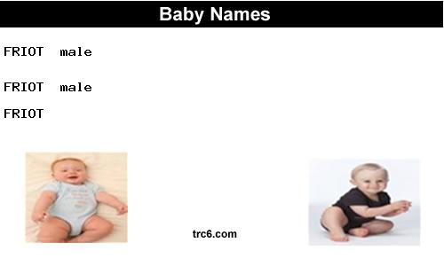 friot baby names