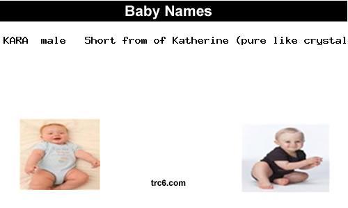 Kara Names Baby Name Kara Meaning