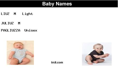 juliuz baby names