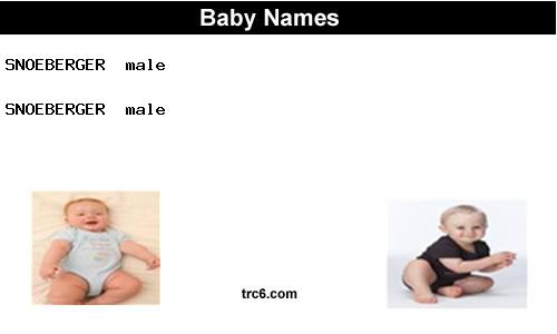 snoeberger baby names