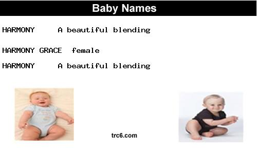 harmony   name meaning & origin   baby name harmony meaning