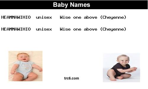 heammawihio baby names